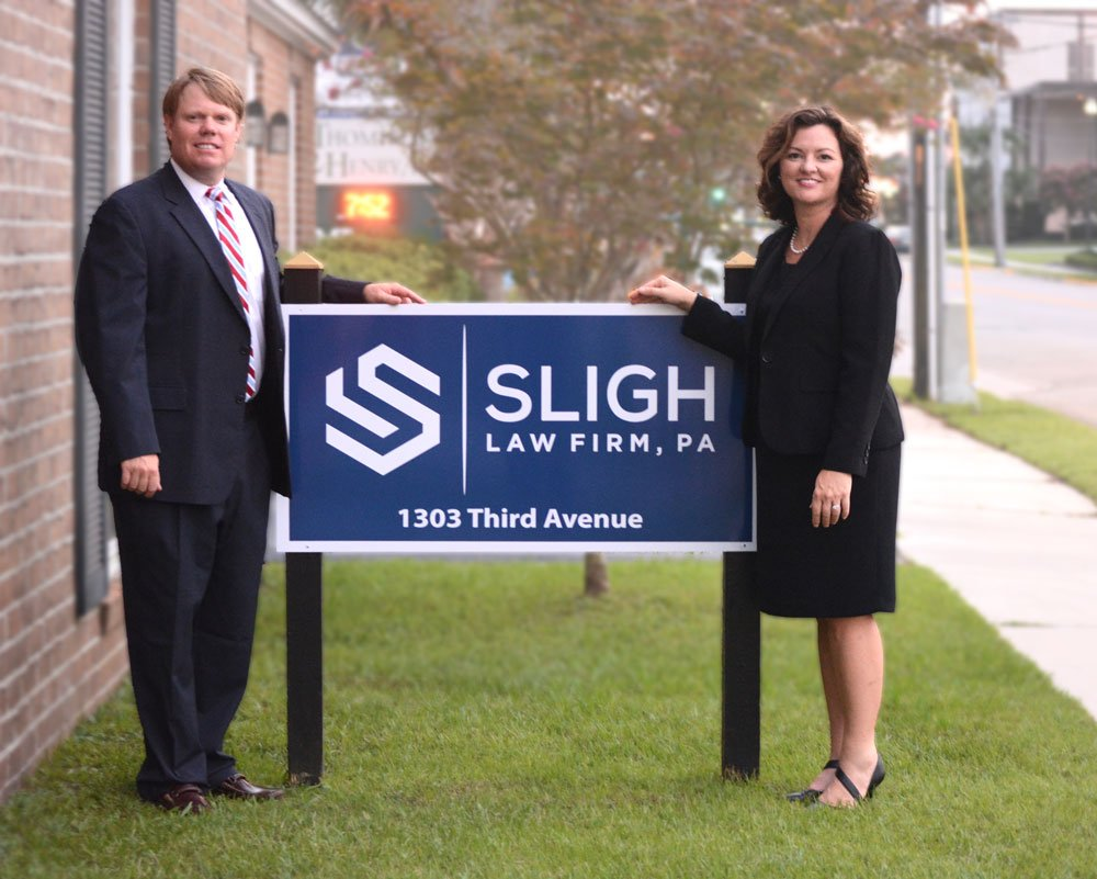 David and Kathryn Sligh attorney group photo